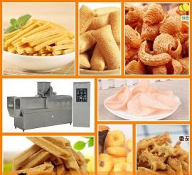 农村创业致富小型食品加工机械 多功能休闲膨化食品机械设备