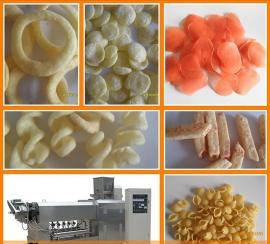 油炸洋葱圈食品生产线 单螺杆油炸休闲食品生产设备