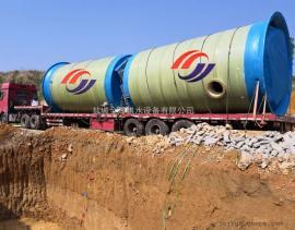 玻璃钢一体化泵站 预制污水提升泵站 金泽供水设备