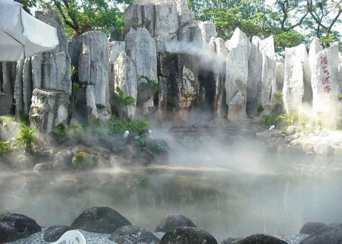 游乐场喷雾景观-户外喷雾降温设备-高压造雾设备