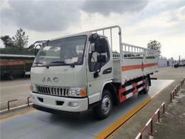 5米15液化气钢瓶配送车/国六黄牌氧气瓶运输车