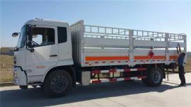 安全达标的6米6高栏板式气瓶运输车/东风天锦钢瓶配送车