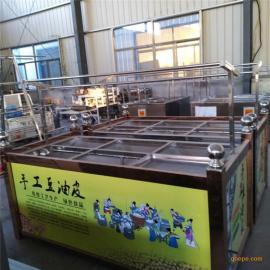 鲁晨6盒蒸汽恒温腐竹油皮机 不锈钢燃气腐竹机