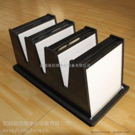 密褶式高效空气过滤器 塑框纸芯V型亚高效过滤器 非标定制