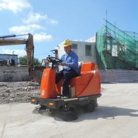 建筑工地场驾驶式电动扫路机 电动洒水车 工地灰尘清扫车