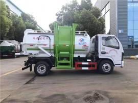 东风5方餐厨垃圾车报价-5个方的泔水垃圾运输车参数