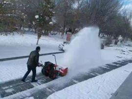 程力小型除雪车 物业人行道除雪车
