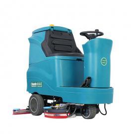自动双刷洗地机大型电瓶式洗地机地下车库停车场大面积拖地机