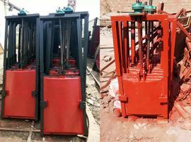 MZY-DN400明杆式铸铁镶铜圆闸门预埋钢板尺寸