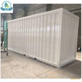 农村学校地埋式地上式集装箱式一体化生活污水处理设备生产