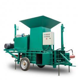 黄储稻草打包机 卧式稻壳打包机 压块套袋方便运输