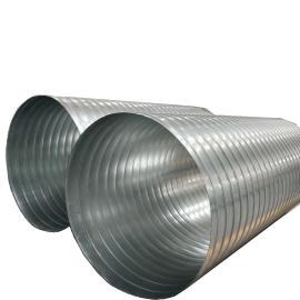 通风管道无花无油镀锌钢板1.5mm螺旋风管白铁螺旋风管定制