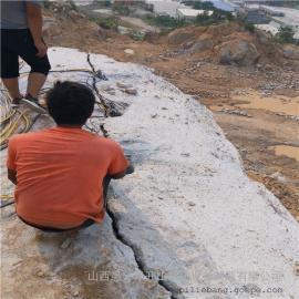 静态爆破破石头劈石机高产量开采方案