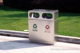 金属垃圾桶果皮箱-小区不锈钢垃圾桶-不锈钢分类垃圾桶