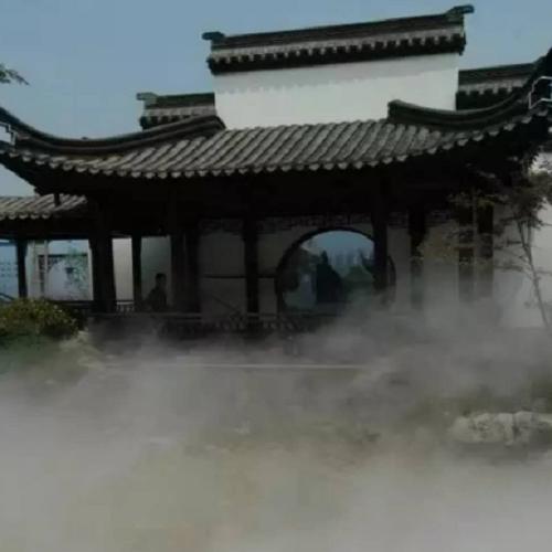 度假山庄人造雾造景景观设备