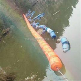 水上垃圾隔离浮体 水电站上游拦污浮筒 河流垃圾拦截索免维护