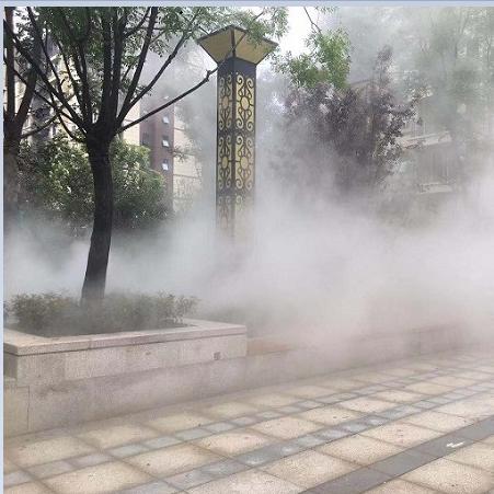 城市广场雾森人造雾造景喷雾系统