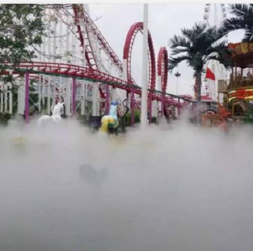 游乐场雾森高压水喷雾降尘设备