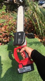 21V单手锂电锯 电动单手锯 充电式伐木锯 修枝锯电动链锯