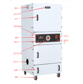 4KW的低噪音高吸力吸尘器 磨床用吸尘器