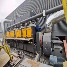 3万风量喷漆房活性炭吸附脱附设备RCO/CO催化燃烧净化器效果好