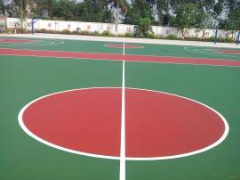 丙烯酸球场地坪漆,硅皮U球场运动地坪