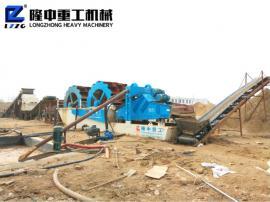 新型水轮式洗沙机 筛沙洗沙生产线设备