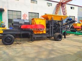 新红机械制造100型移动破碎机