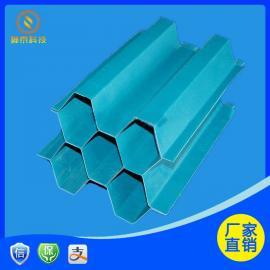 玻璃钢斜管填料Φ35*0.42六角蜂窝斜管材质乙丙共聚