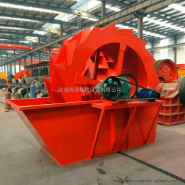 大型水洗沙生产线 鸿泽全套洗砂机设备 移动轮式洗砂机
