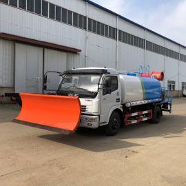 东风8吨洒水车带雾炮机带除雪铲 洒水/喷雾降尘/铲雪一体车