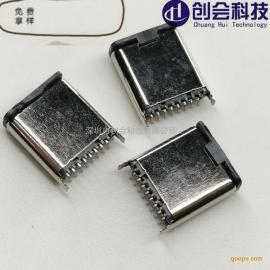����科技/USB3.1立�N公�^ 直立式�N片公座 16PIN�NSMT式TYPE-C立�N公�^