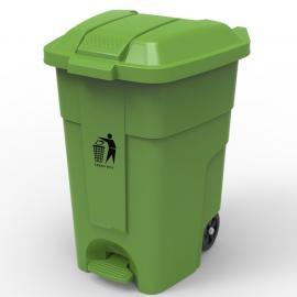 绿华lvhua社区卫生院塑料掀盖垃圾桶 医院脚踩垃圾箱货源lh-01