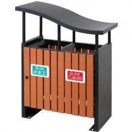 ����木�l垃圾桶-����分�果皮箱