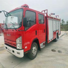 江特牌 五十�3立方水罐消防���六排放柴油�全��可上牌 JDF5100GXFSG30/Q6型水罐消防�