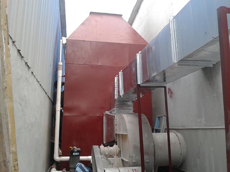 博罗造粒机废气治理设备喷淋塔+uv光解+活性炭吸附