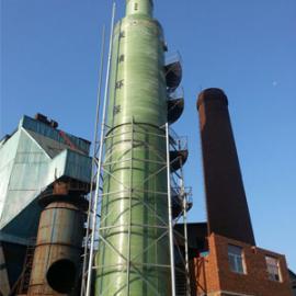 具有气体导流和液柱湍冲的烟气脱硫塔/100吨砖厂脱硫塔