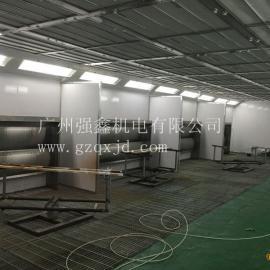 深圳QX水帘式喷漆房,不锈钢水帘喷漆房,定做家具喷漆房