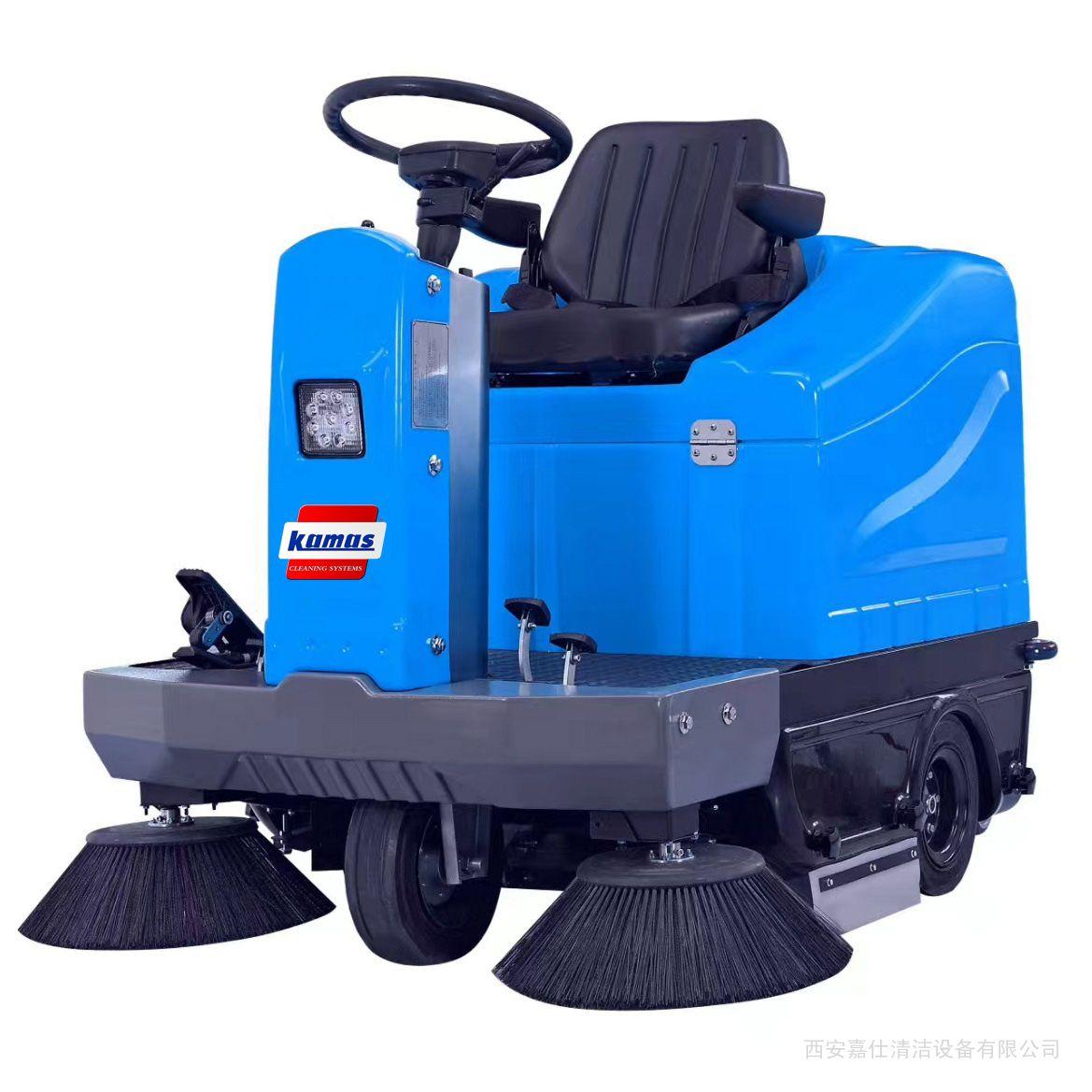 吸力强的电动扫地车 强吸力电瓶式道路路面地面清扫车