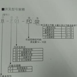 上海 WBN-C301-FKK型1单元3位置拨动开关