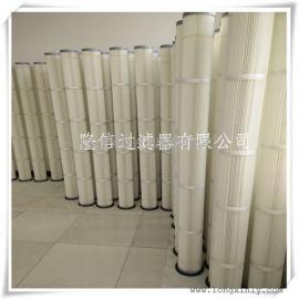 隆信生产代替布袋2米脉冲褶皱式法兰滤筒规格162*2000