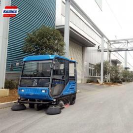 陕西清扫车 西安电瓶式校园道路路面地面保洁电动扫地车设备