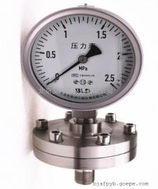 隔膜压力表真空压力表YTNP-100HF2B现货销售