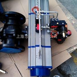 三段式气动球阀,三段式气缸