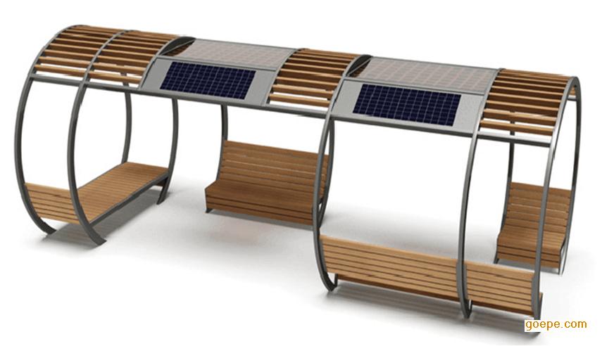 不同的风格现代简约设计风格的景观凉亭长廊座椅设