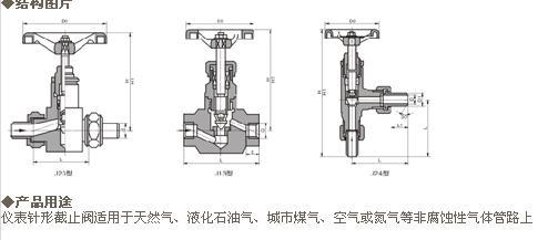 仪表针形截止阀适用于天然气,液化石油气,城市煤气,空气或氮气等