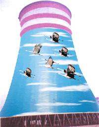 冷却塔爬梯栏杆扶手防腐