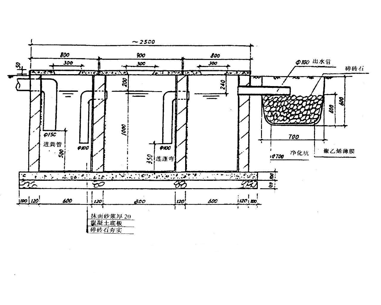 最新化粪池标准图集 13号化粪池标准图集 混凝土化粪池标