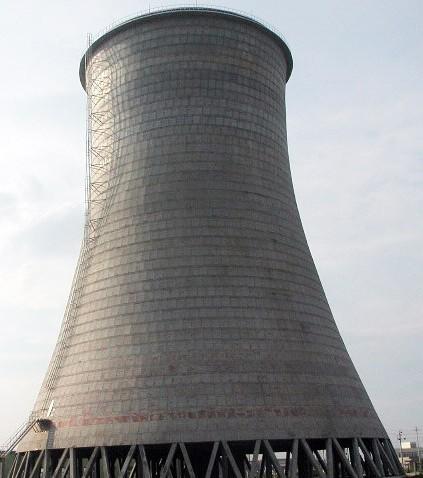电厂,双曲线,自然通风,大型冷却塔