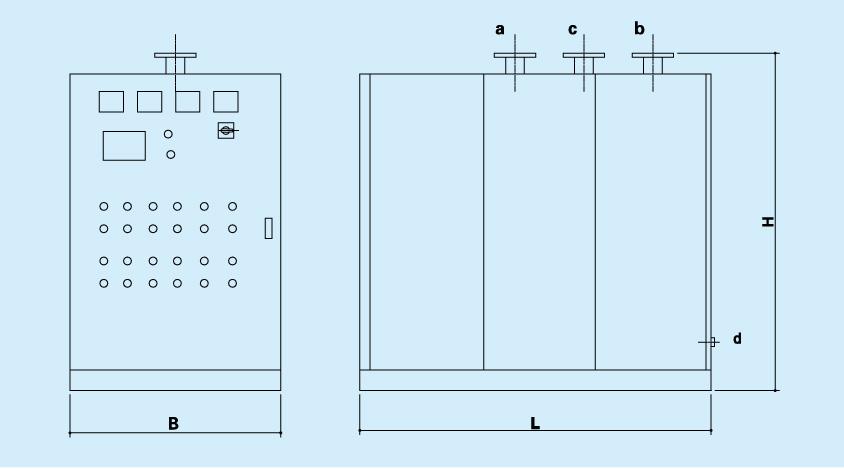 液位计,电磁阀,止回阀,过滤器等部件组合而成,制造成本要高燃气锅炉图片